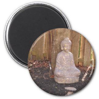 Diversión espiritual de la estatua del ídolo de la imán redondo 5 cm