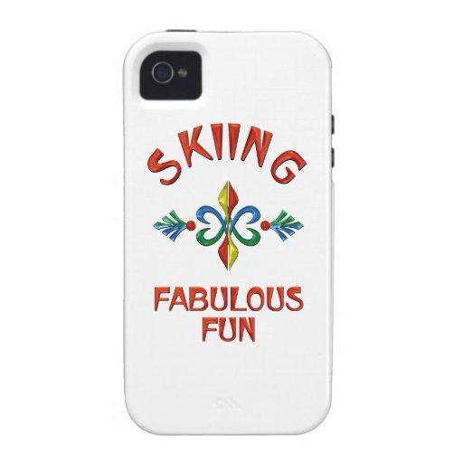 Diversión fabulosa de esquí iPhone 4/4S carcasa