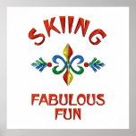 Diversión fabulosa de esquí posters
