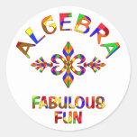 Diversión fabulosa de la álgebra pegatina redonda