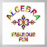 Diversión fabulosa de la álgebra posters