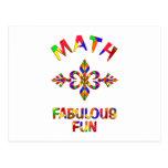 Diversión fabulosa de la matemáticas tarjetas postales