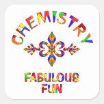 Diversión fabulosa de la química pegatina cuadradas personalizada