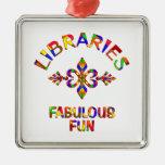 Diversión fabulosa de las bibliotecas adorno