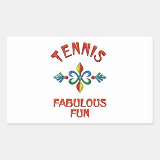 Diversión fabulosa del tenis pegatina