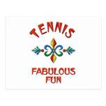 Diversión fabulosa del tenis postales
