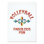 Diversión fabulosa del voleibol comunicados personalizados