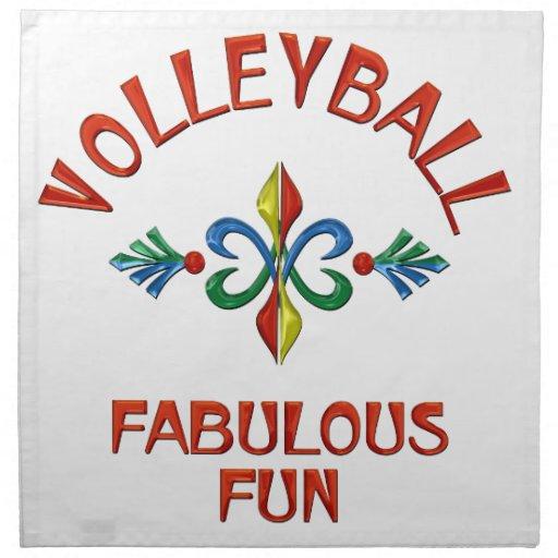 Diversión fabulosa del voleibol servilletas