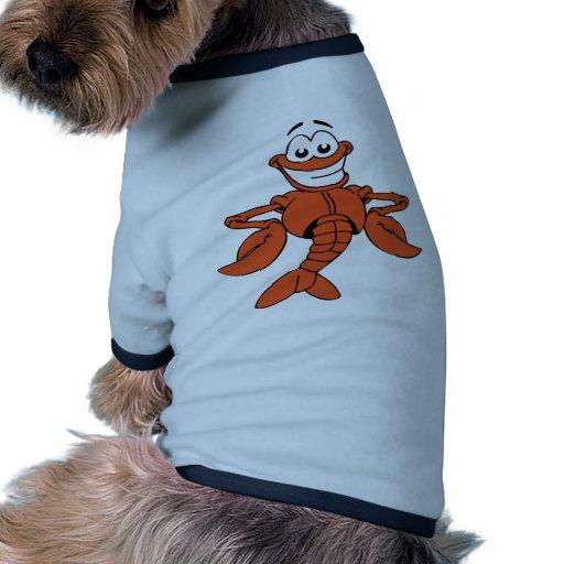 Diversión feliz sonriente de la LANGOSTA ANARANJAD Camisa De Perro