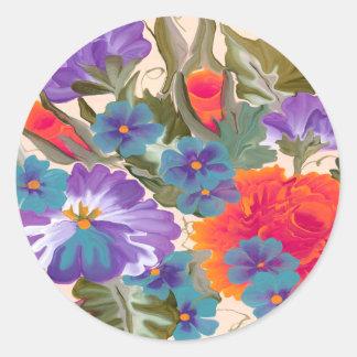 Diversión floral de la flor del pegatina bonito de