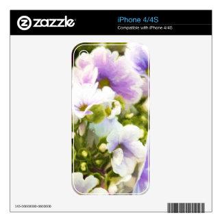 Diversión floral skin para el iPhone 4