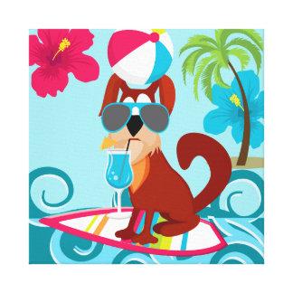 Diversión fresca del fiesta de la playa del verano impresión en lienzo