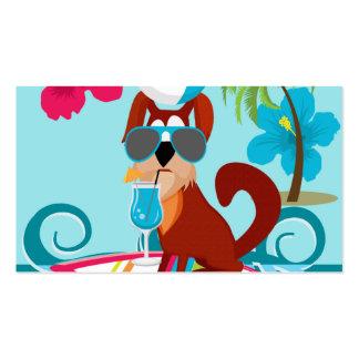 Diversión fresca del fiesta de la playa del verano plantillas de tarjetas de visita