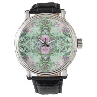 diversión fresca del reloj hermoso de la flor