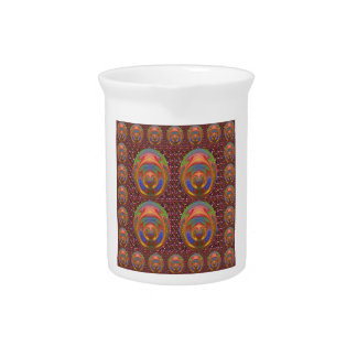 Diversión grabada en relieve elegante del emblema jarras