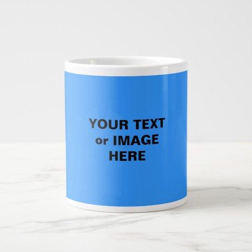 ¡Diversión! ¡Haga una taza de Latte/del Cappuccino Tazas Jumbo