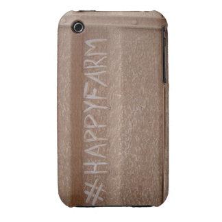 Diversión HappyFarm del granjero iPhone 3 Case-Mate Cobertura