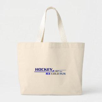 Diversión helada del hockey bolsa tela grande