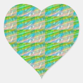 DIVERSIÓN ideal de los REGALOS del sueño del verde Calcomanía De Corazón