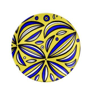 Diversión inteligente de la diversión única plato de cerámica