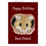 Diversión linda del ratón del cumpleaños del mejor tarjeta