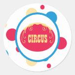 diversión linda polk del circo del pegatina puntos