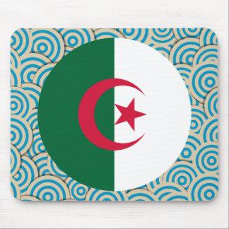 Diversión llenada, bandera redonda de Argelia Tapete De Raton