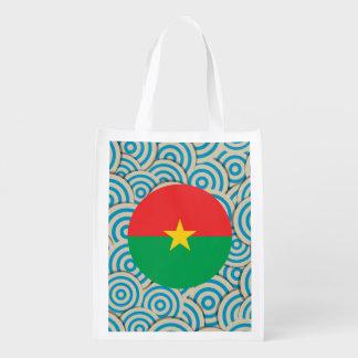 Diversión llenada, bandera redonda de Burkina Faso Bolsa De La Compra