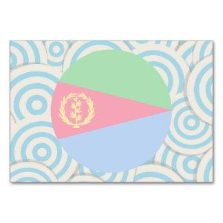 Diversión llenada, bandera redonda de Eritrea