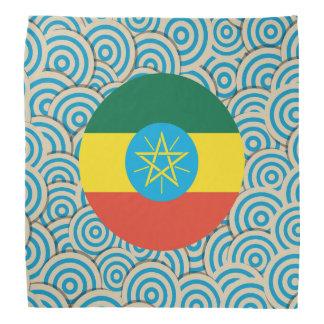 Diversión llenada, bandera redonda de Etiopía Bandanas