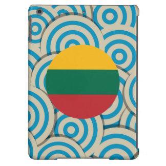 Diversión llenada, bandera redonda de Lituania Funda Para iPad Air