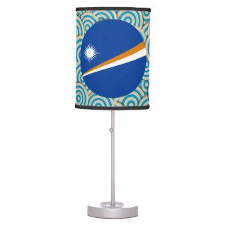Diversión llenada, bandera redonda de Marshall Lámpara De Mesilla De Noche