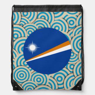 Diversión llenada, bandera redonda de Marshall Mochilas