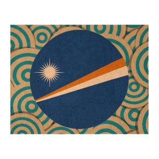 Diversión llenada, bandera redonda de Marshall Impresión En Corcho