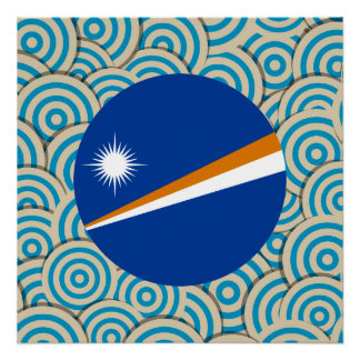 Diversión llenada, bandera redonda de Marshall Perfect Poster