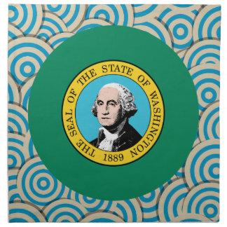 Diversión llenada, bandera redonda de Washington Servilletas De Papel
