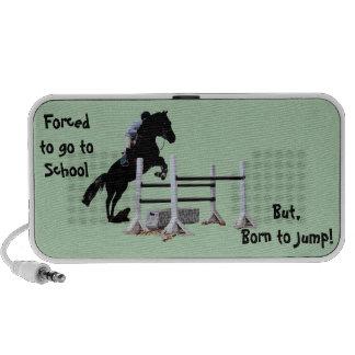 Diversión llevada para saltar al Equestrian Notebook Altavoces