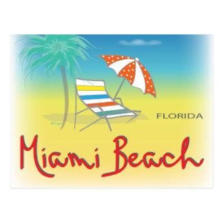 Diversión Miami Beach, diversión de FL fresca Tarjeta Postal
