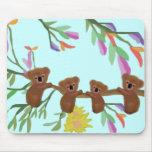 Diversión Mousepad de la koala Alfombrillas De Raton