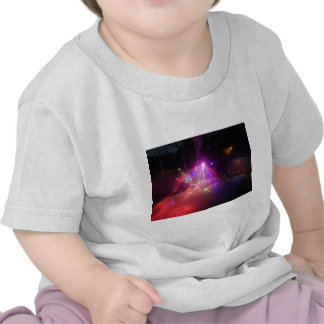 diversión multicolora de la espuma de las luces de camiseta