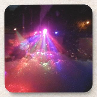 diversión multicolora de la espuma de las luces de posavasos de bebida