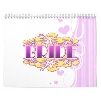 diversión nupcial del fiesta de la novia de la calendario de pared