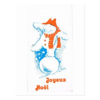 Diversión para el muñeco de nieve, Joyeux Noel del Tarjeta Postal