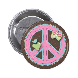 Diversión poco Pin del signo de la paz Pin Redondo 5 Cm