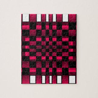 Diversión profunda de la ilusión óptica del rojo d rompecabezas con fotos