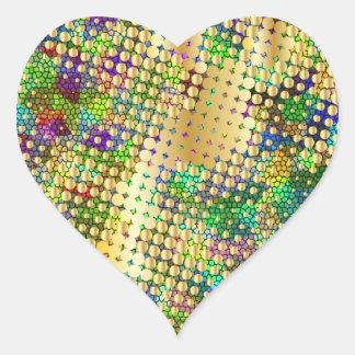 Diversión psicodélica con una salpicadura de los pegatina corazon personalizadas