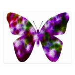 Diversión púrpura de la mariposa postal