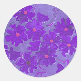 Diversión púrpura del pegatina de las violetas