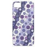 Diversión púrpura retra moderna del lunar iPhone 5 Case-Mate coberturas