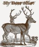 Diversión que dice mi camisa de los ciervos